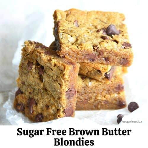 Sugar Free Brown Butter Blondies