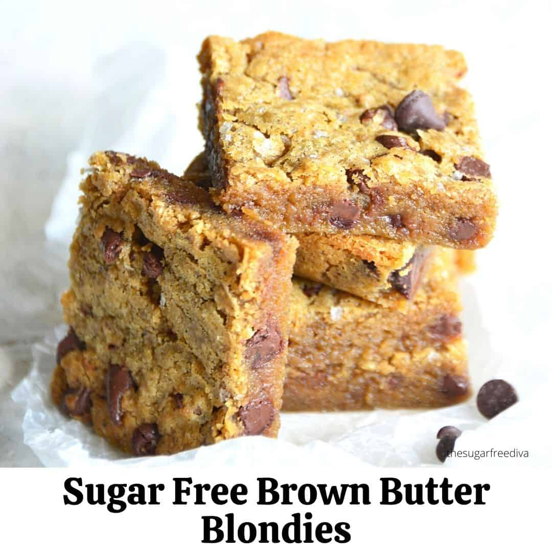 Sugar Free Brown Butter Blondies