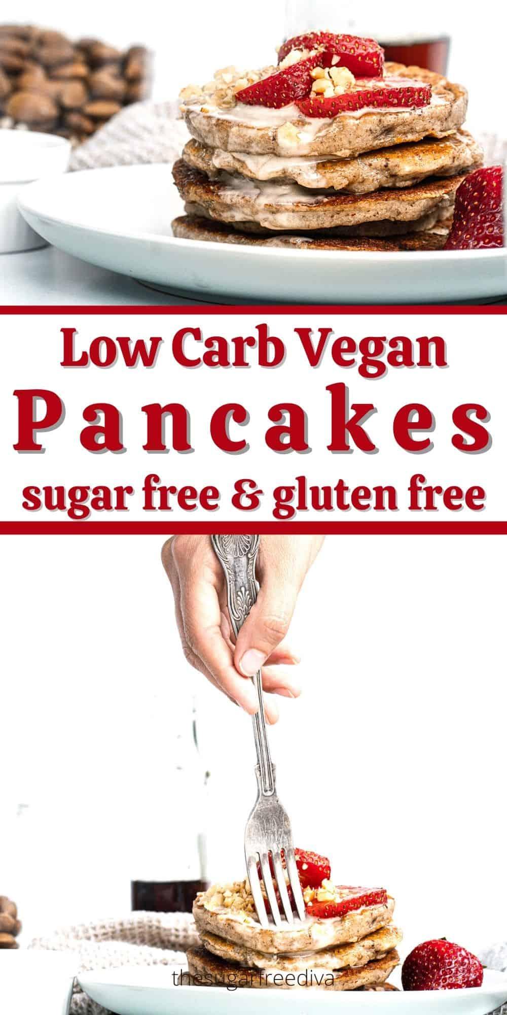 Delicious Low Carb Vegan Pancakes