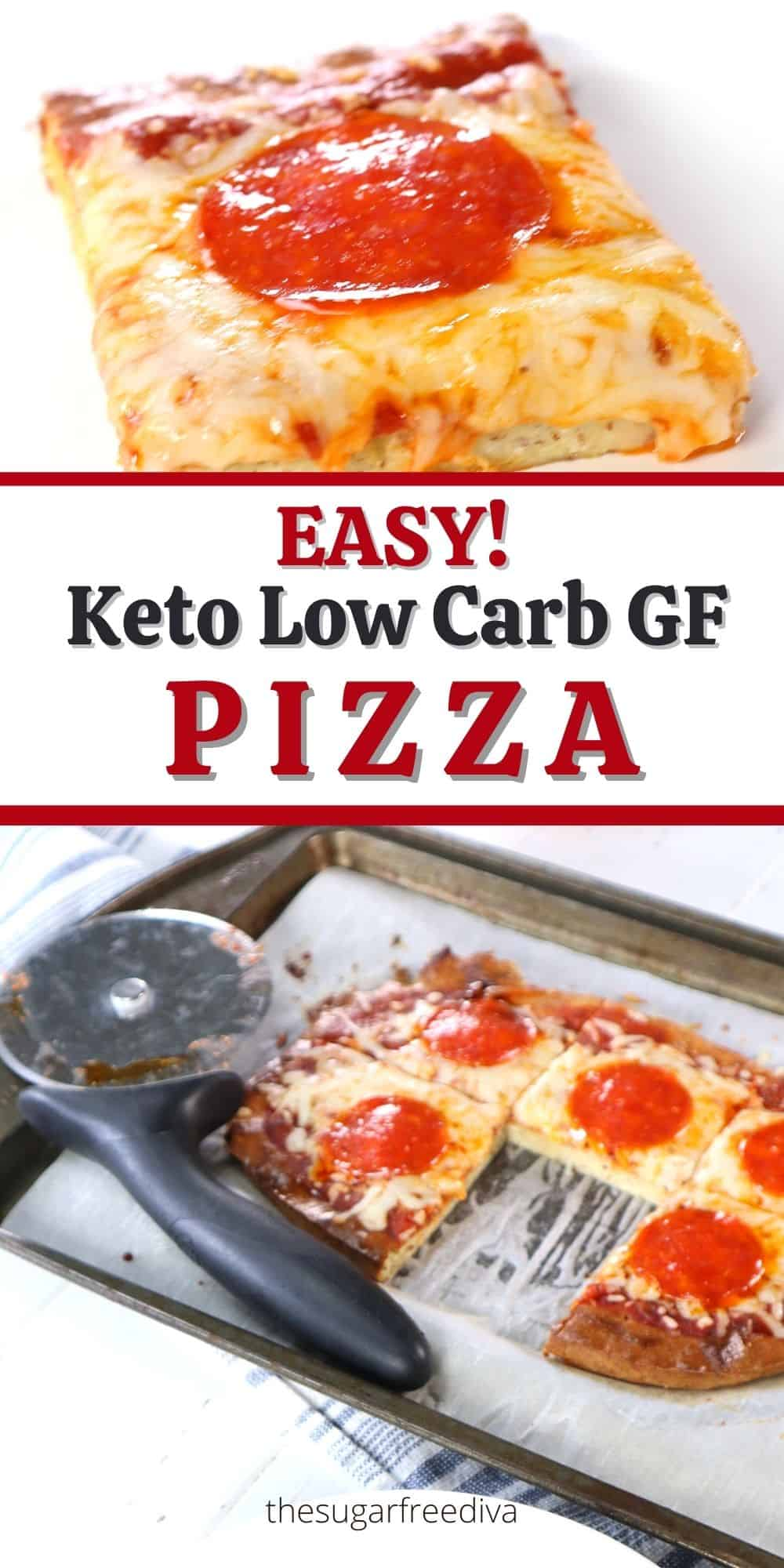 Easy Keto Low Carb Homemade Pizza