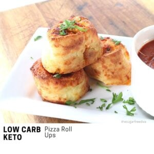 Keto Low Carb Pizza Roll Ups