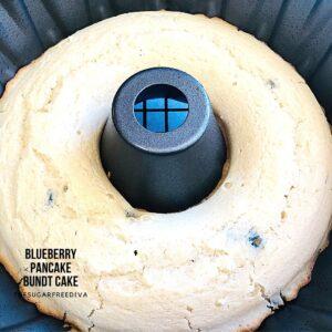 Sugar Free Blueberry Pancake Bundt Cake
