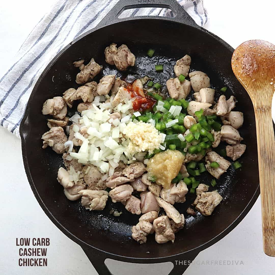 Low Carb Cashew Chicken