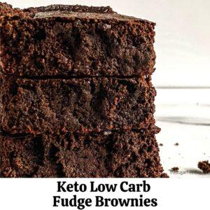 Easy Fudge Keto Low Carb Brownies