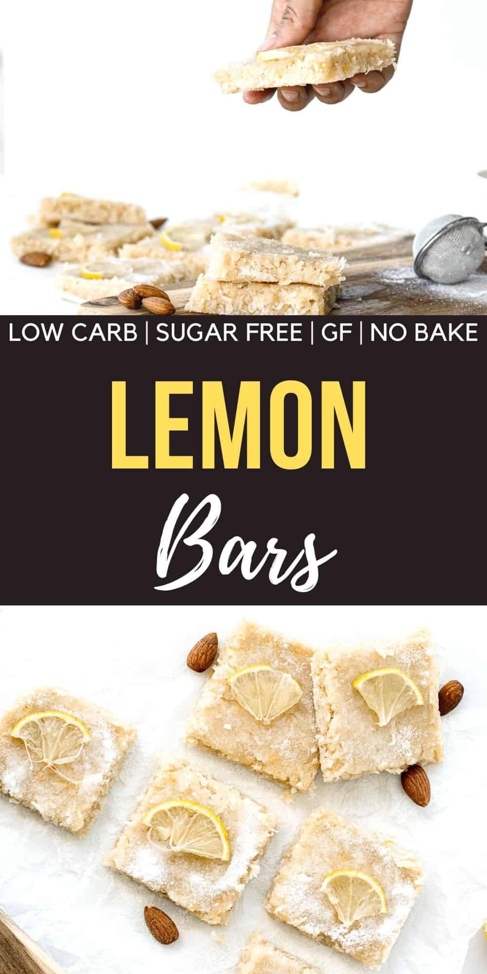 No Bake Lemon Keto Bars