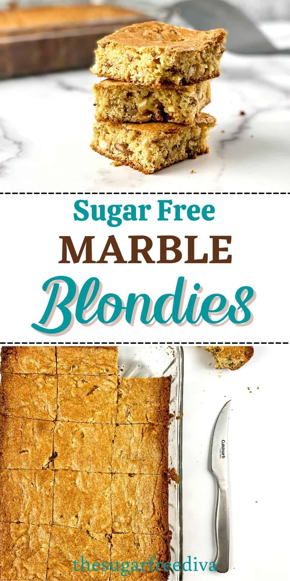 Sugar Free Marble Blondies