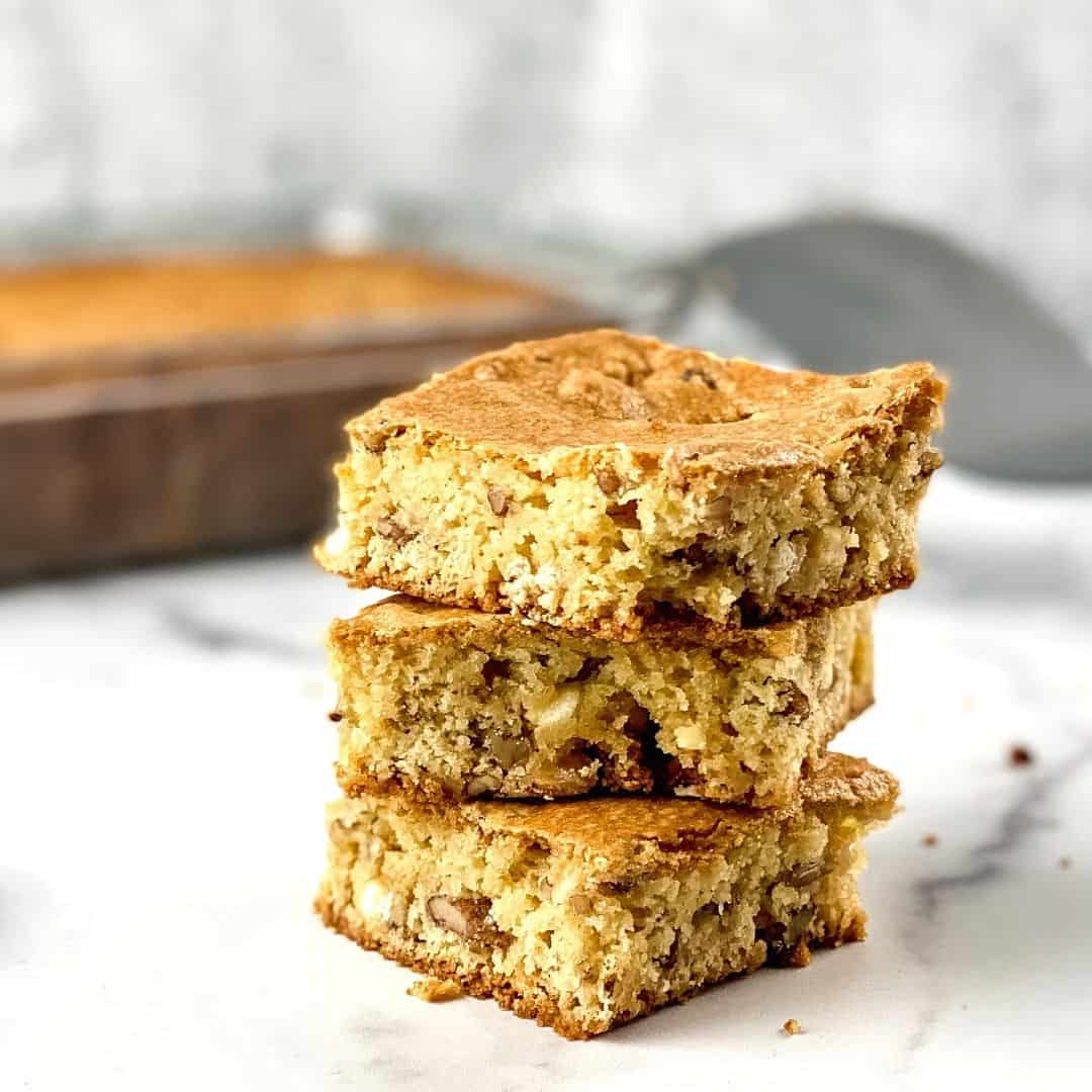 Sugar Free Marble Blondies, a simple dessert recipe that has keto, gluten free, and low carb options