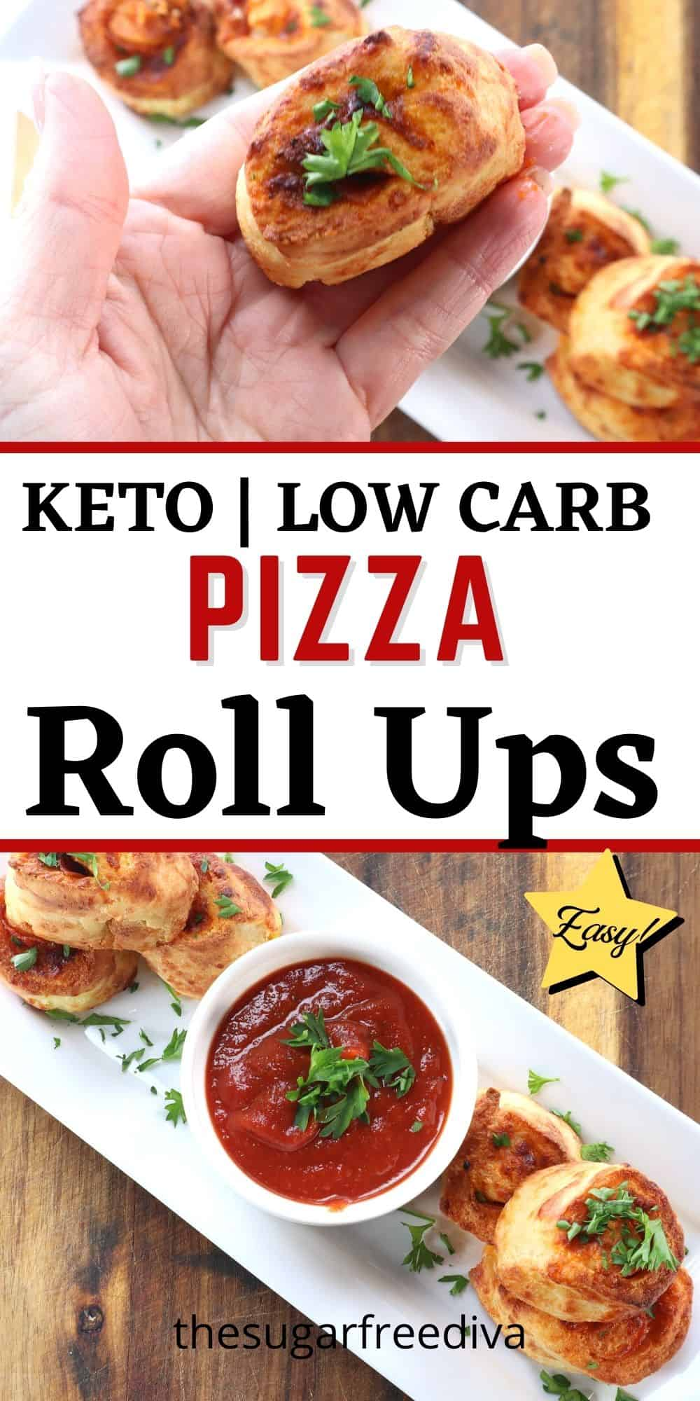 Air Fried Keto Pizza Roll Ups