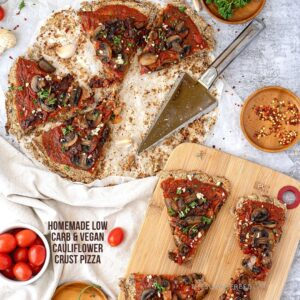 Vegan Low Carb Cauliflower Pizza