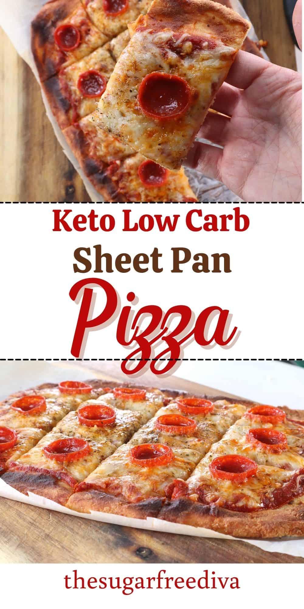 Easy Keto Sheet Pan Pizza