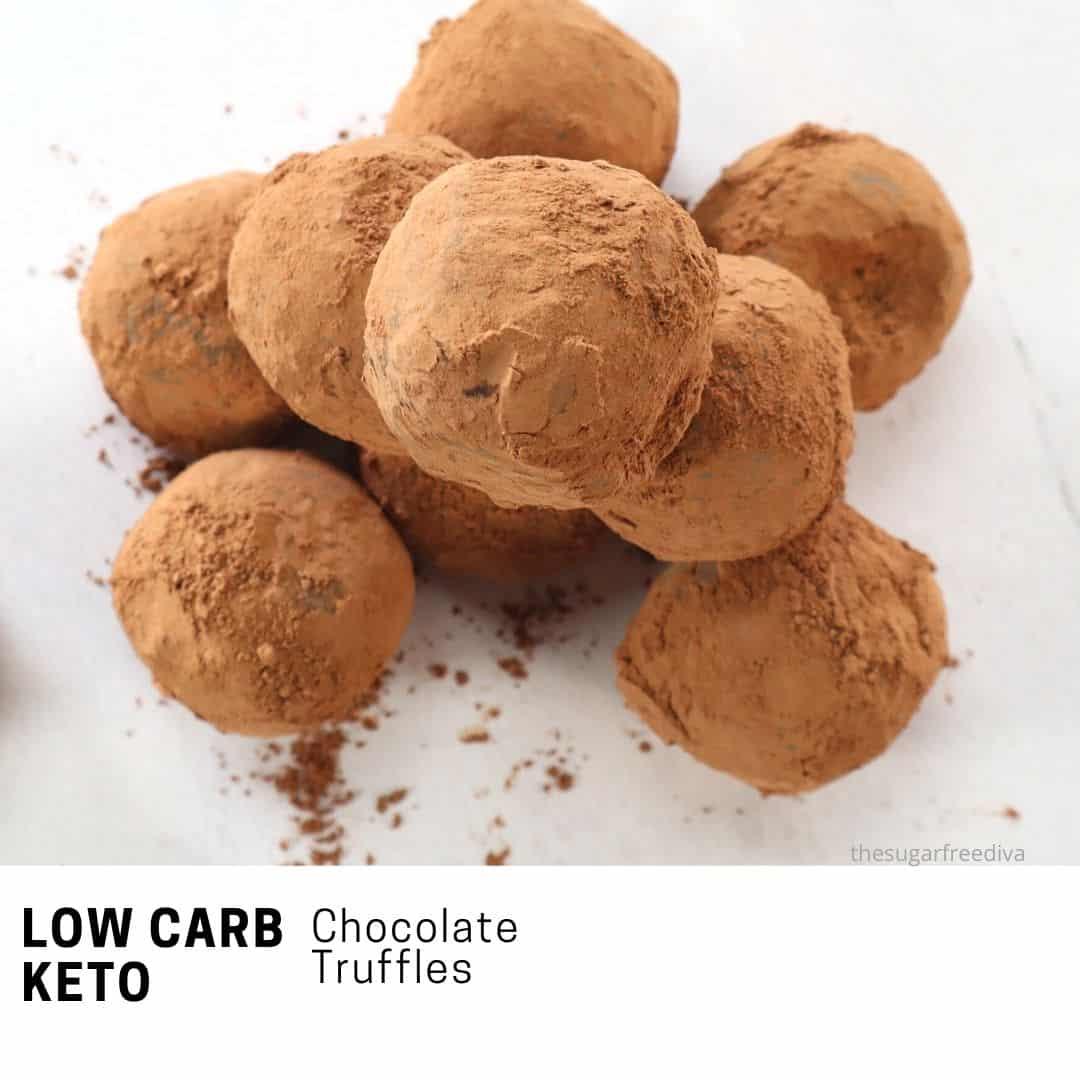 Sugar Free Chocolate Truffles (keto, low carb)