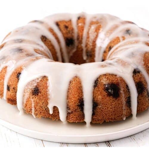 Sugar Free Lemon Blueberry Cake