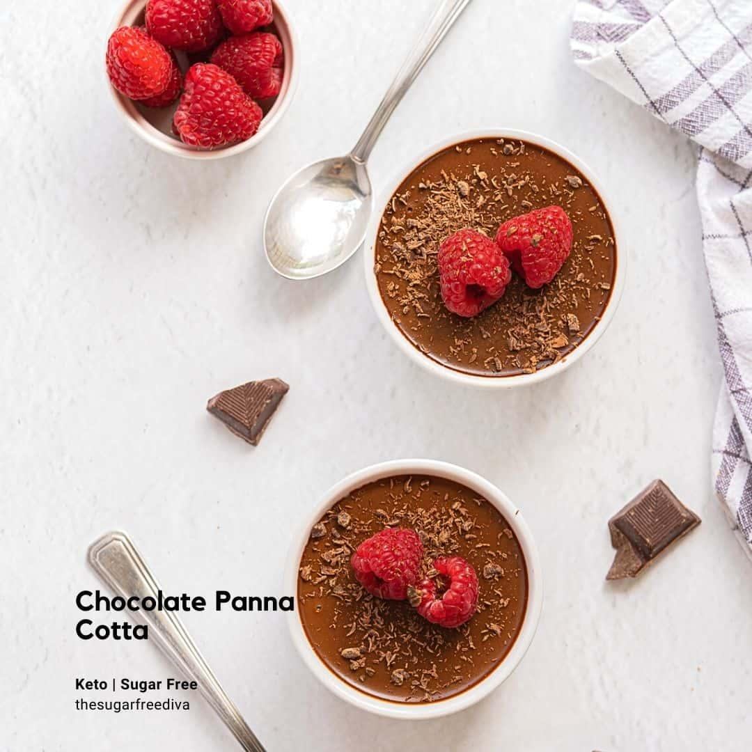 Sugar Free Chocolate Panna Cotta