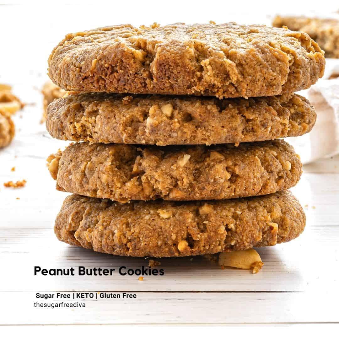 Vegan Keto Peanut Butter Cookies