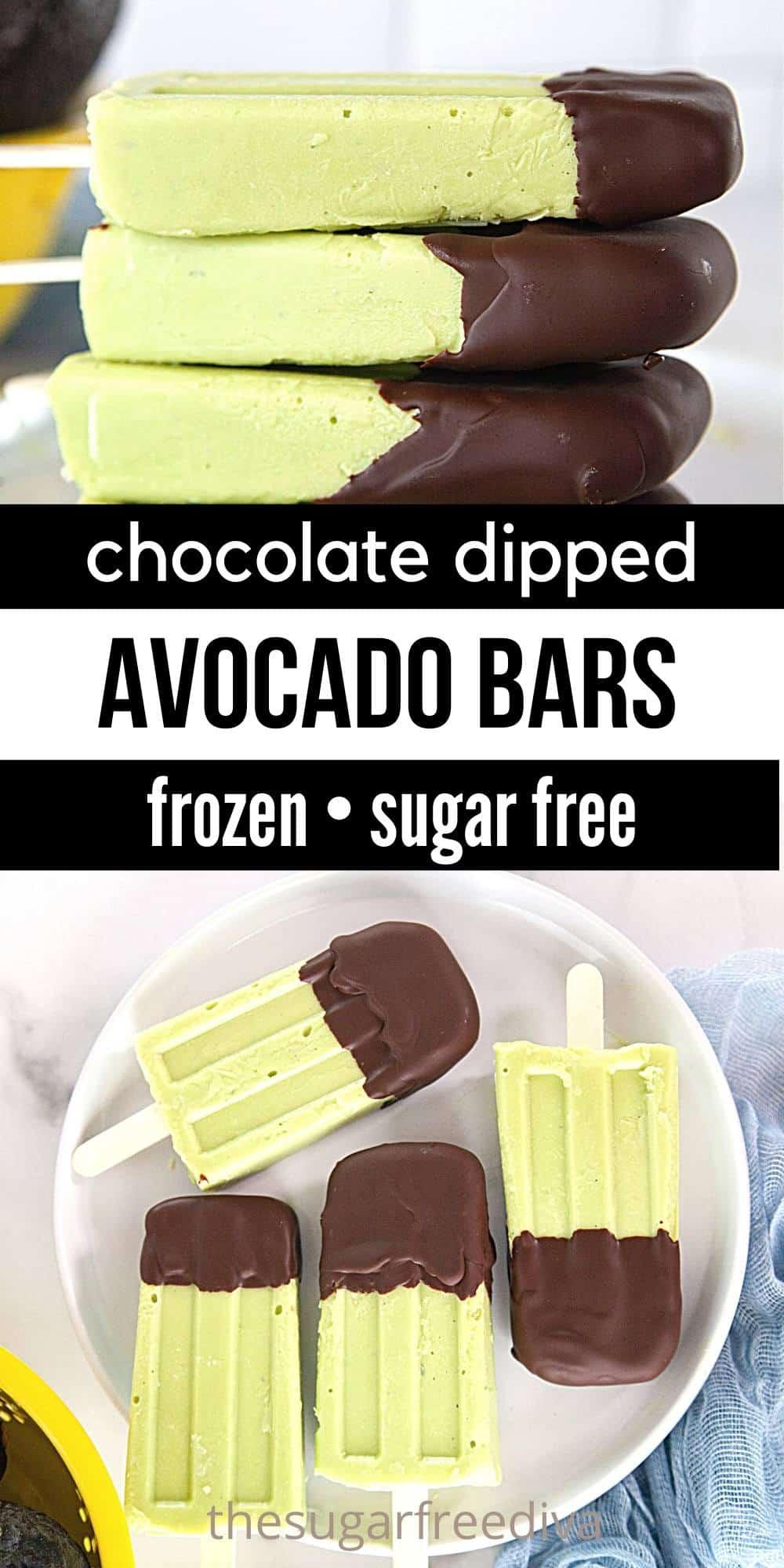 Sugar Free Frozen Avocado Bars