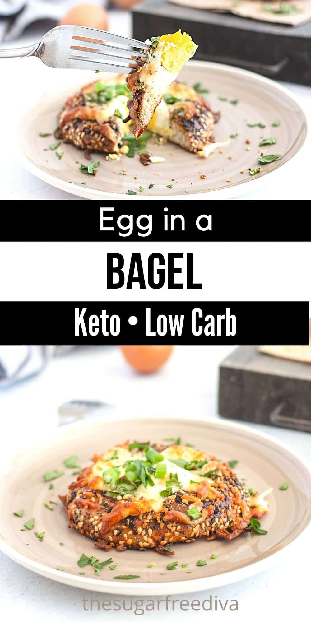 Keto Low Carb Egg in a Bagel