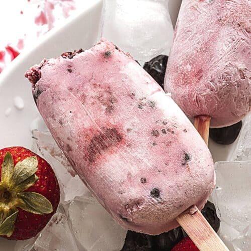 Keto Frozen Berry Bars