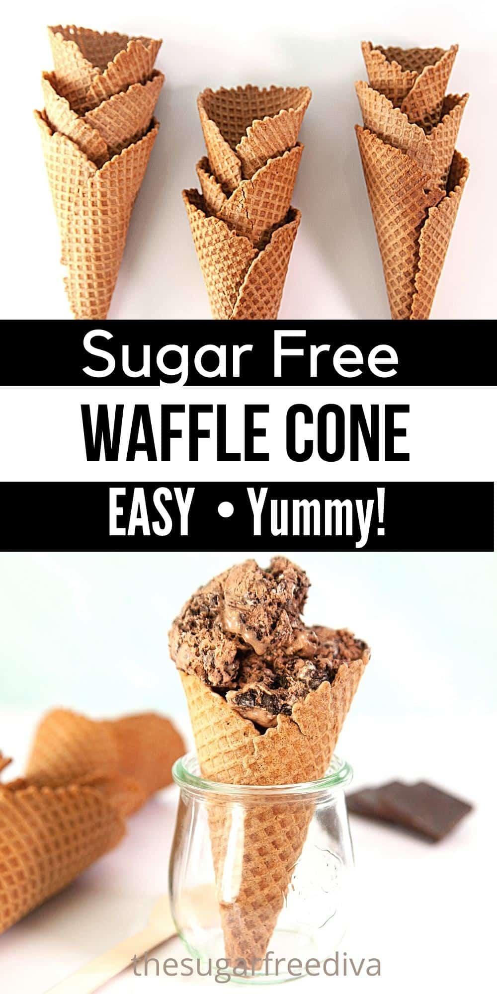 How to Make a Sugar Free Waffle Cone