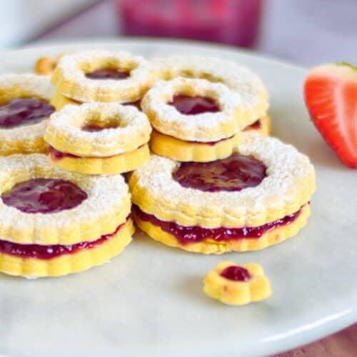 Sugar Free Jam Filled Cookies