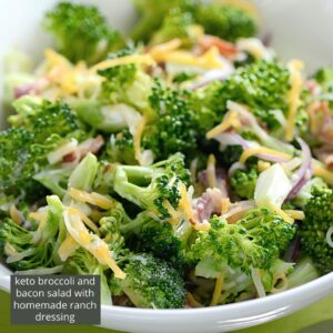 keto broccoli and bacon salad