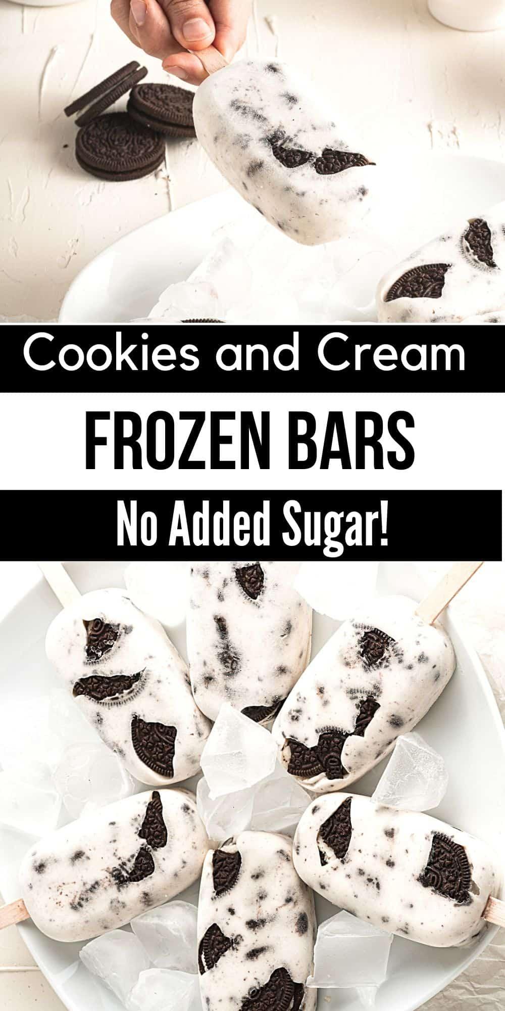 Sugar Free Cookies and Cream Bars