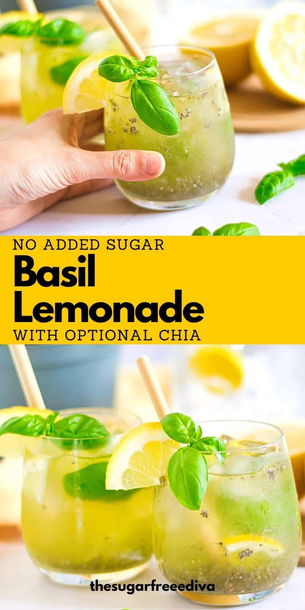 Sugar Free Basil Lemonade
