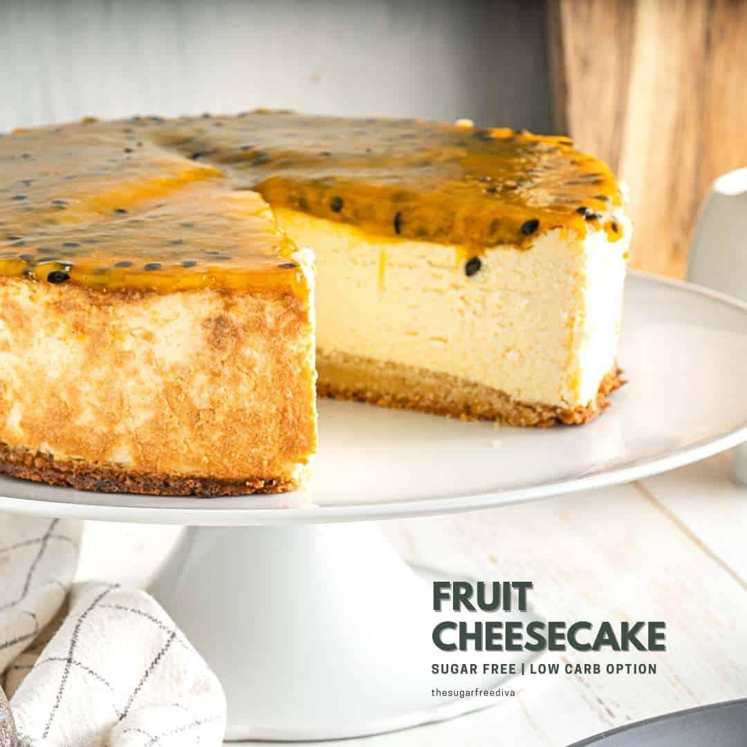 Sugar Free Fruit Cheesecake