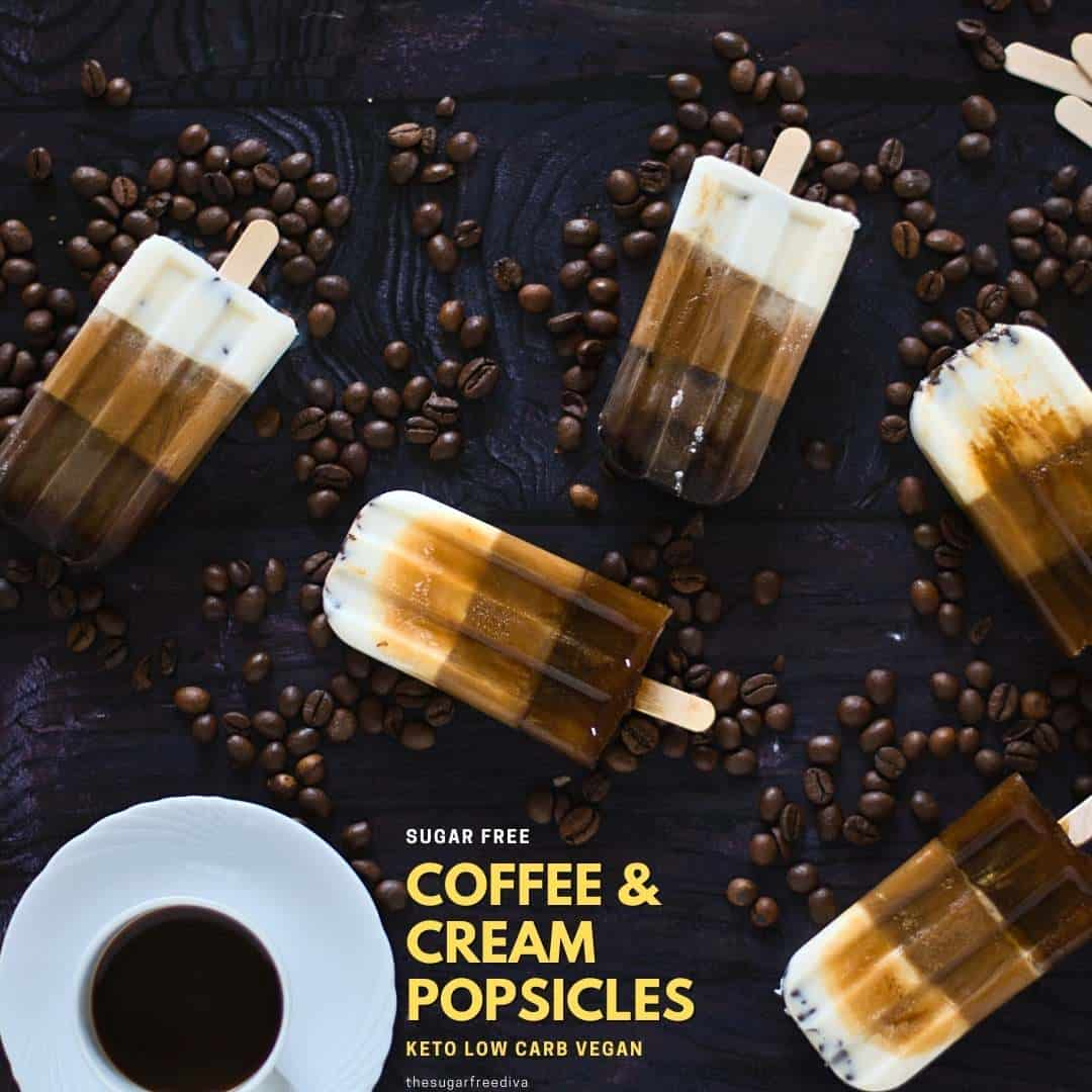 Sugar Free Coffee and Cream Popsicles