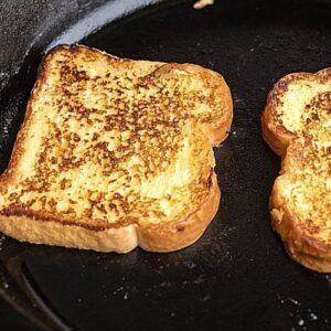 French toast on skillet