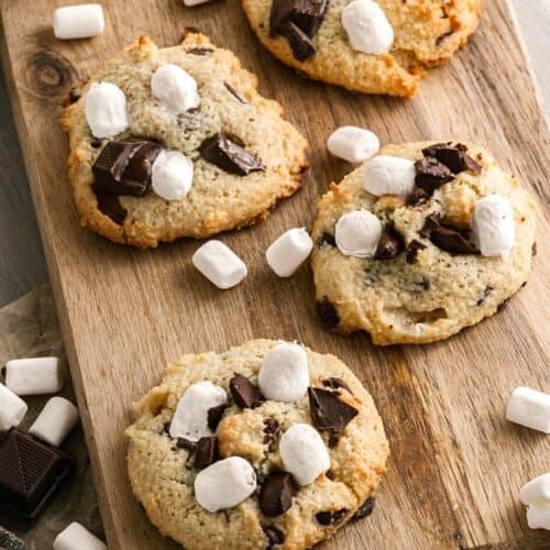 Ultimate Sugar Free SMore Cookies