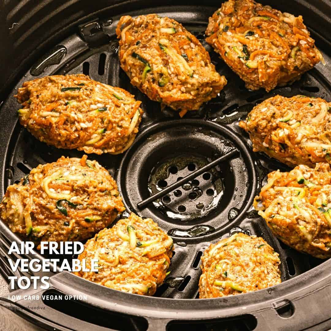 Low Carb Air Fried Veggie Tots