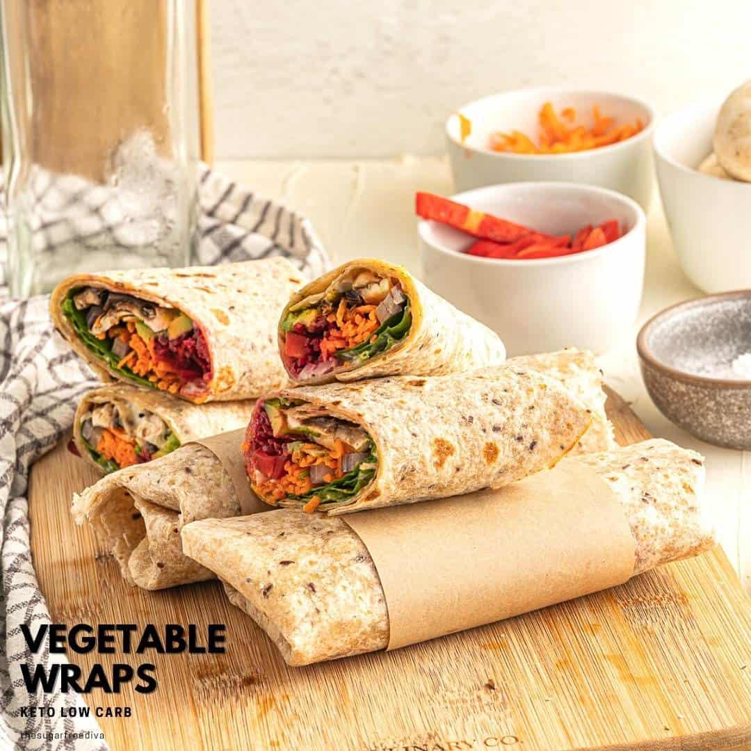 Keto Low Carb Vegetable Wraps
