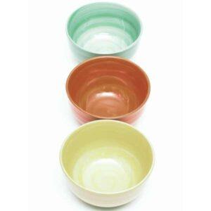 3 dredging bowls