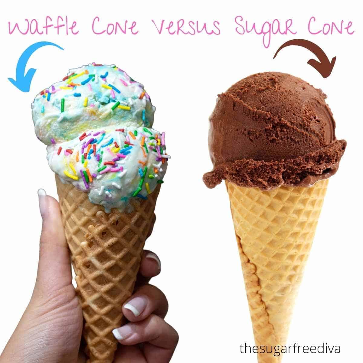 Waffle Cone Versus Sugar Cone