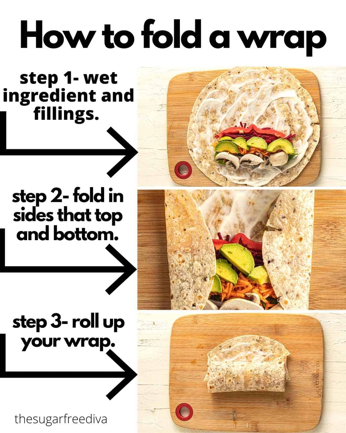 How to fold a wrap