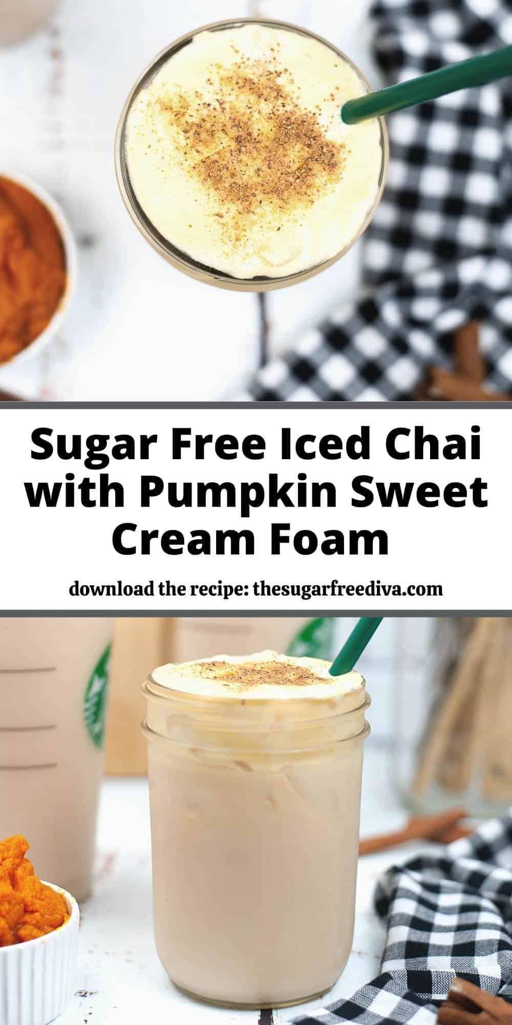 Sugar Free Iced Pumpkin Chai