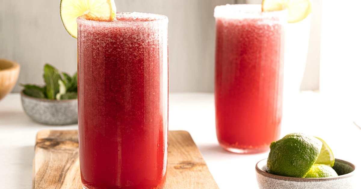 Sugar Free Raspberry Margaritas