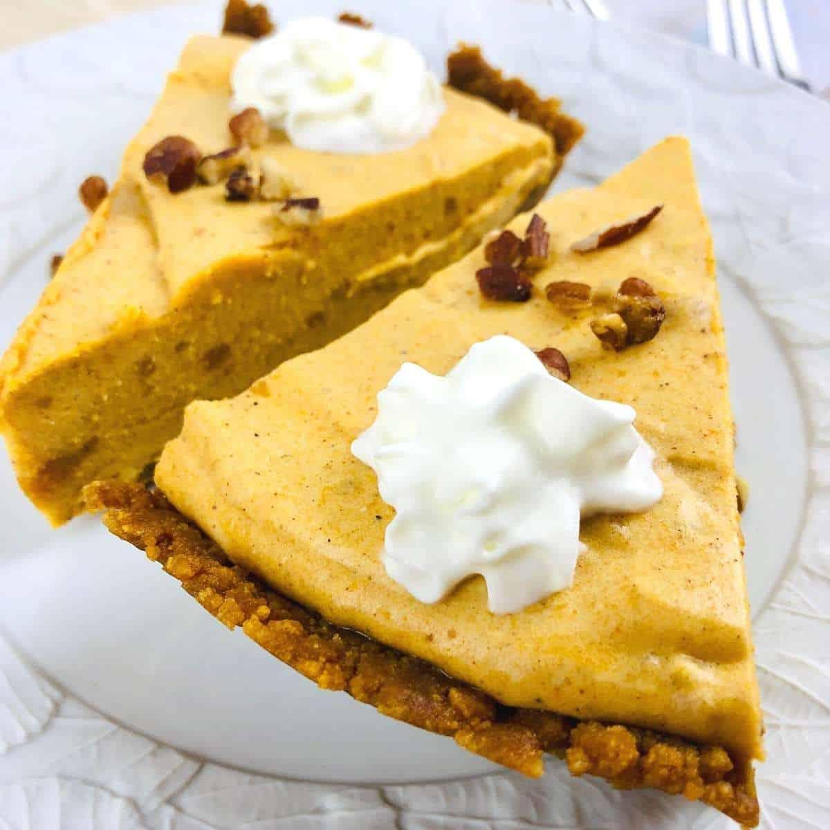 Sugar Free Pumpkin Chiffon Pie