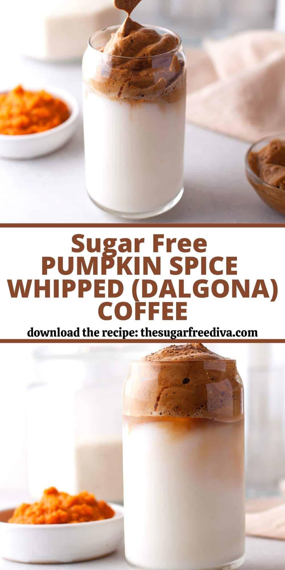 Sugar Free Pumpkin Spice Dalgona Whipped Coffee