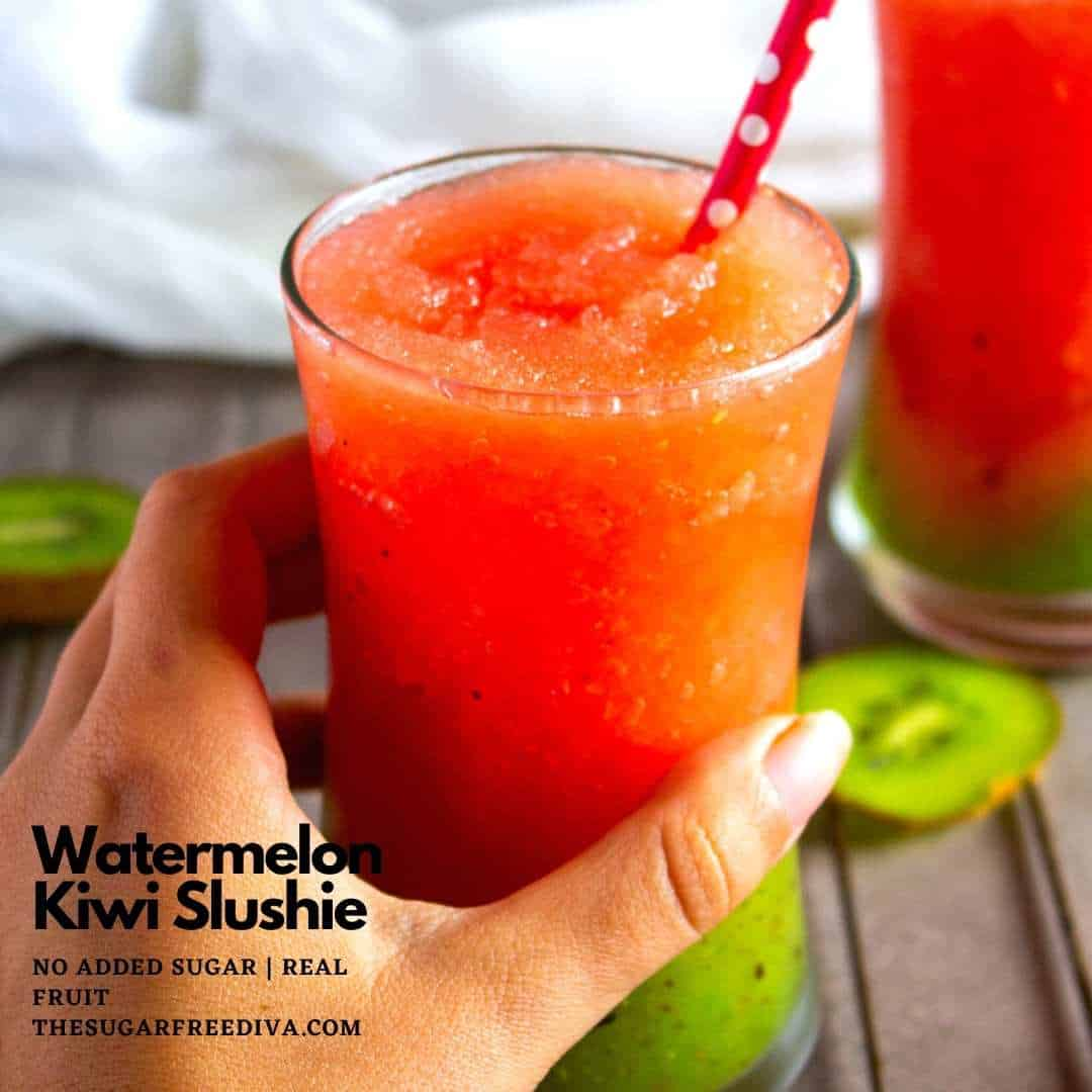 Homemade Watermelon Kiwi Slushies