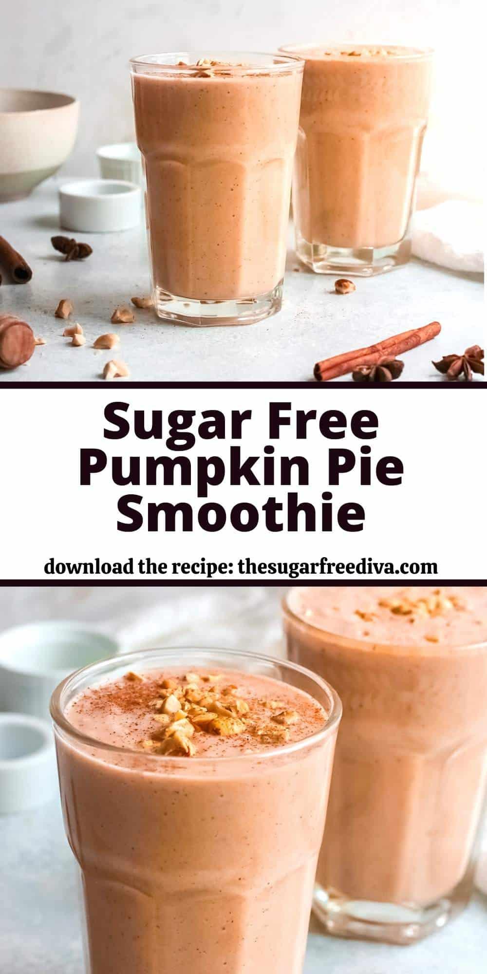 Sugar Free Pumpkin Pie Smoothie