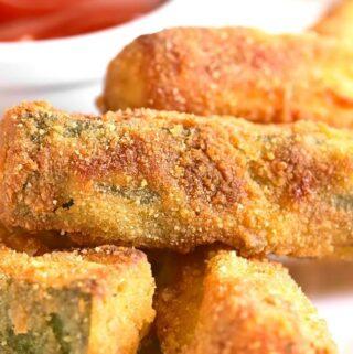 Low Carb Air Fried Zucchini Sticks